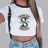Maglia TV Riverdale Southside Serpents Fans T-Shirt Crop Top /& Pantaloncini Maglietta Manica Corte Top e Pantaloncini