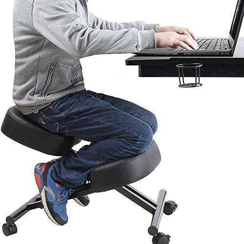 Sillas de Oficina Ajustable ergonómica rodilla Diseñado silla de la PU Silla de oficina Rodillas cómodo espuma Cojines balanceo Escritorio heces mejorar la postura ideal for el cuello de la espina dor ⭐