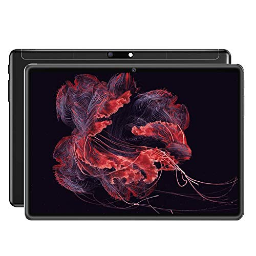 JJ 10.1 inch Android Tablet, 6 GB RAM + 64 GB Hard Drive, S10 Android 8.1 Tablet 10 Core Pad with Double Camera, 1280 x 800 HD IPS Screen, Google Play, WiFi, Bluetooth-black