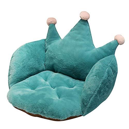 LASIMAO Corona de Felpa Rellenos de Asientos, Presidente Cojín Soft Comfort, Media Rodeado del Asiento Acogedor Caliente Almohada Sillón Asiento Cojines del sofá Oficina en Silla,Azul,55 * 40 * 40cm