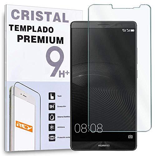 REY Protector de Pantalla para Huawei Mate 8, Cristal Vidrio Templado Premium