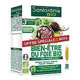 Santarome Bio - Bien-Être du Foie Bio | Complément Alimentaire à base d'Artichaut, Radis Noir et Pissenlit - Hépatonic | 30 Ampoules