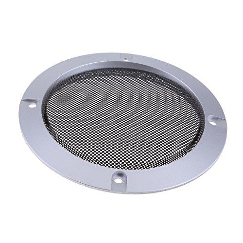 perfk Metall Silber Auto Audio Lautsprecher Subwoofer Schutzgitter Abdeckung, 4 Zoll / 5 Zoll / 6,5 Zoll / 8 Zoll / 10 Zoll - 4-Zoll