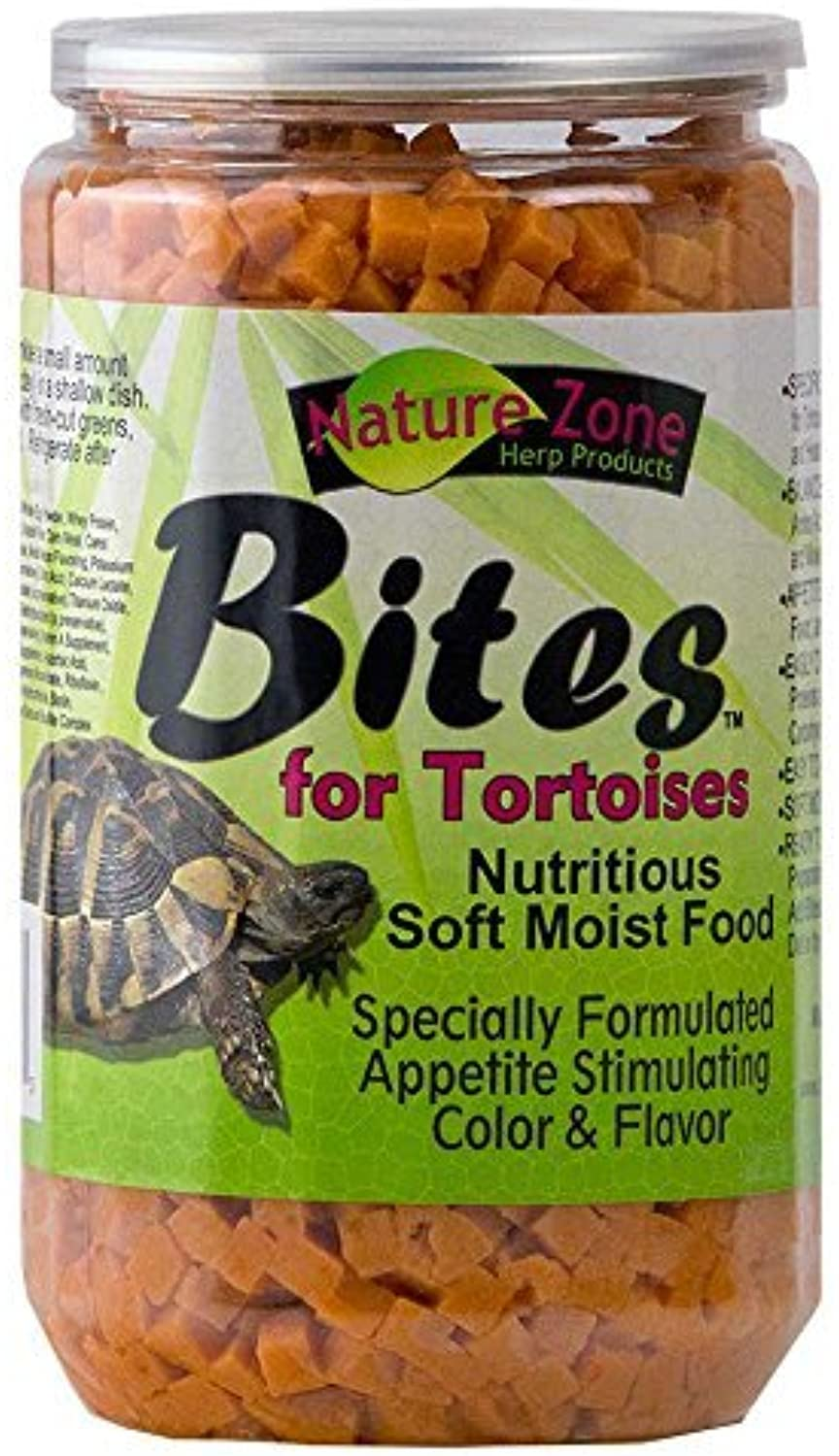 Nature Zone SNZ54662 Melon Flavored Total Bites Soft Moist Food for Tortoise, 24Ounce