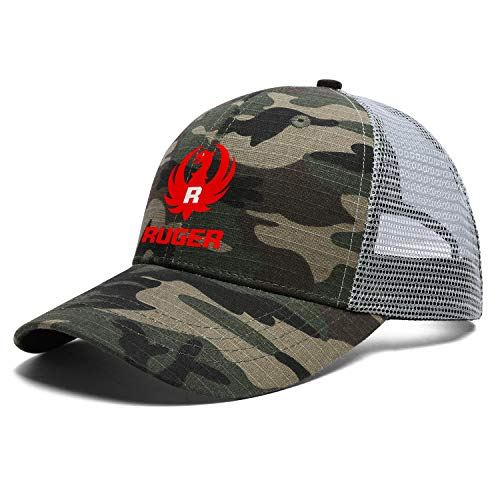 Just Hiker Unisex Adults Camouflage Mesh Hat Athletic Trucker Golf Cap Casual Adjustable Snapback