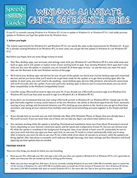 Paperback Windows 8. 1 Update Quick Reference Guide Book