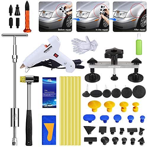 Uhomer Dent Abzieher Set, Auto Paintless Dent Removal Kit, Dellen Reparaturset für Auto Hagelschaden Dent & Ding Remover