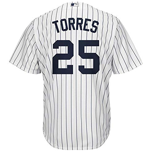 Gleyber Torres New York Yankees White Toddler Cool Base Home Replica Jersey (4T)