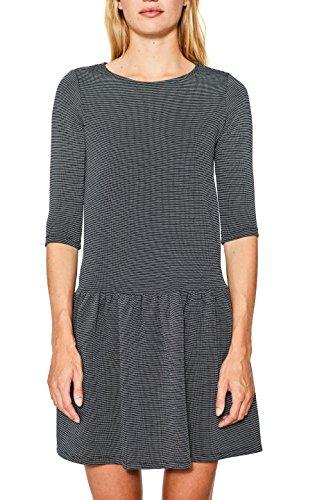 ESPRIT Damen 107EE1E007 Kleid, Mehrfarbig (Navy 400), Large