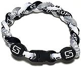 Sport Ropes 3 Rope Titanium Bracelet (Gray/Black/White, 8')