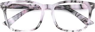 Oversized Blue Light Filter Glasses Square Frame for Women Men with Non-Prescription Clear Lens Anti Eye Strain