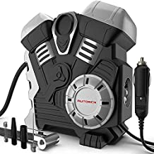 AUTOGEN Double Cylinder Air Compressor Heavy Duty 12V DC Air Pump for Car Tires 12V 150PSI Tire Inflator with Digital Pressure Gauge for Car, Truck, RV, Bicycle and Other Inflatabls Robot Modeling