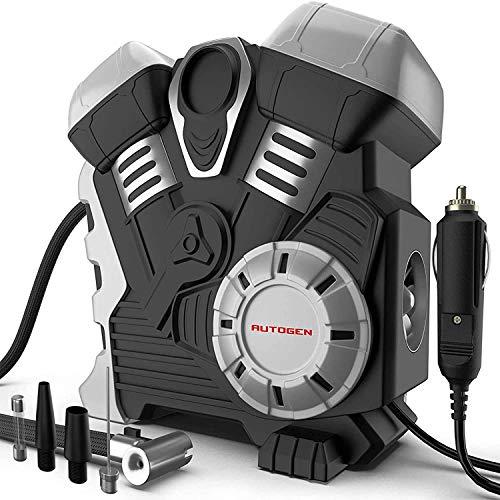 AUTOGEN Gonfleur Pneus Voiture, Pompe à air 12V DC robuste pour pneus de voiture Gonfleur de pneu 12V 150PSI avec manomètre numérique pour voiture, camion, camping-car, Bicyclette