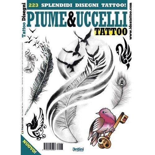 PIUME&UCCELLI Birds and Feathers Illustration/Tattoo Flash Book Books/Tattoo Flash Art