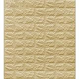 AIMIMI Paneles de Pared Peel and Stick Paneles de Pared Autoadhesivo PE Foam Peel and Stick Wallpaper 10 Paquetes para el Fondo del Dormitorio de la Sala de Estar,Beige