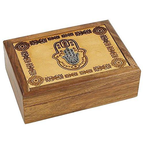 Pho Gravur Hand der Fatima Tarot Box 18cm Schmuck Andenken und Geschenk