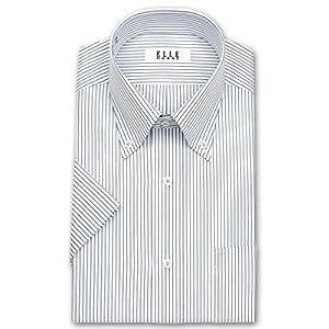 [エル・オム]形態安定ワイシャツ 半袖 ボタンダウン メンズ|ZEN627-450 [450-39]
