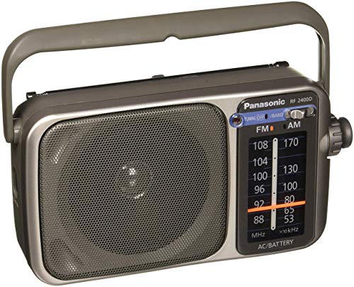 Panasonic RF-2400D AM/FM Radio, (Renewed) (Silver)