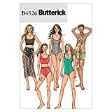 Butterick Patterns B4526 - Patrones de Costura para bañadores de Mujer y Pareos (Tallas 34, 36, 38 y 40), Color Blanco