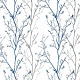 Melwod Grey Blue Tree Branches Peel...