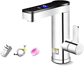 Instant Tankless Faucet Electric Water Heater Faucet Fast Heating Tap with LED Digital Display for Toilet Kitchen A.