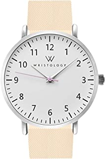 WRISTOLOGY Olivia Womens Numbers Watch - for Nurses Large Face Analog Easy to Read with Second Hand Silicone Band