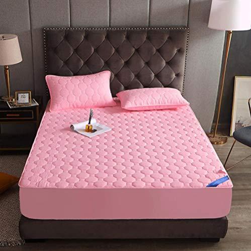 KIrSv Bedsheets,Funda de Cama Antideslizante Gruesa para Hotel, Funda de colchón de protección de algodón Puro, Adecuada para Cama Doble Super King-H_120cm*200cm*20cm