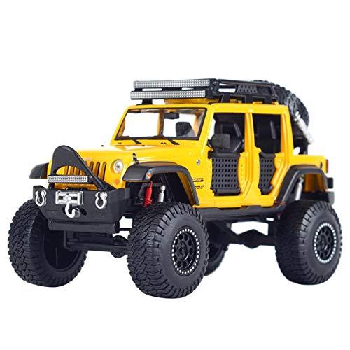 1:24 para 2015 Jeep Wrangler Unlimited Off-Road Kings Pickup Truck Static Diecast Aleoy Modelo Coche Modelo De Auto (Color : 3, Size : No Box)