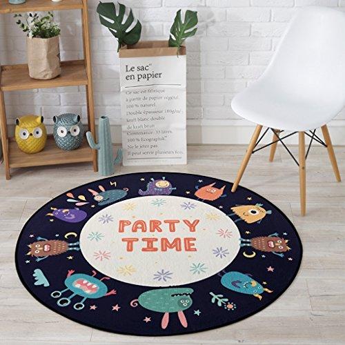 Good thing tapis Tapis, Tapis, Coussins pour enfants Tapis de chambre à coucher de salon de bande dessinée, Tapis de plancher de chaises d'ordinateur, Balcon de maison accrochant le tapis de panier ( taille : Diameter 80CM )