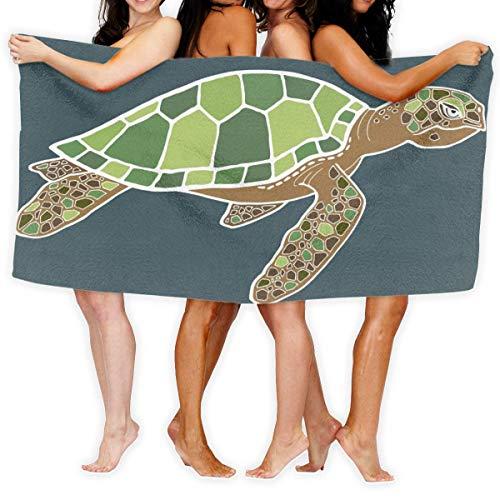 Fun Life Art Toalla de baño de tortuga marina de dibujos animados para yoga toalla de playa 51,2 x 80 cm