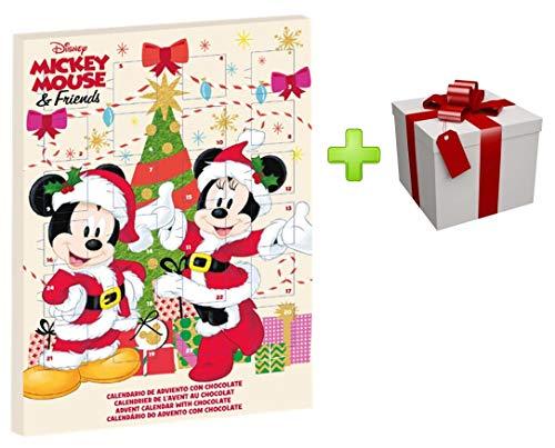 Disney Mickey und Minnie Maus Adventskalender mit Vollmilchschokolade für Weihnachten 2019 + Überraschungsgeschenk (Order Before 25TH of November for Express DELIVERY) (Mickey Überraschungsgeschenk)