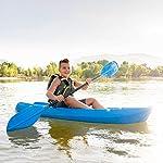 Lifetime Youth Wave Kayak (Paddle Included), Blue, 6' 16 Ergonomic Cockpit Design Enhances Balance and Motor Skills Molded finger handles on each side of the kayak Reverse chine for enhanced stability with swim-up step