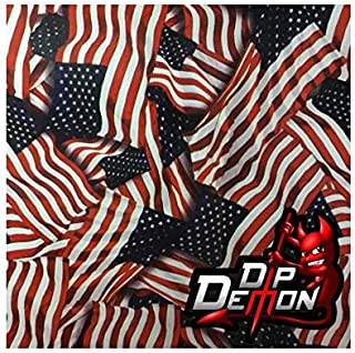 Hydrographic Film Flags Metallic American Flag Garrison USA Hydrographic Water Transfer Film Hydro Dipping