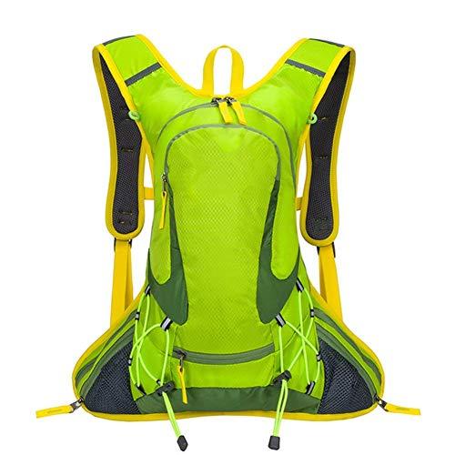 FKB@ED Backpack for Outdoor Hiking Camping Travel 18L Bicycle Helmet Riding Bag Sport Rucksack Men Women/Green