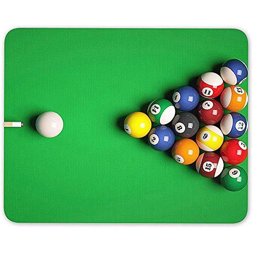 Muispad, pooltafel muismat pad - Snooker ballen spel Pub Bar mannen Computer Gift