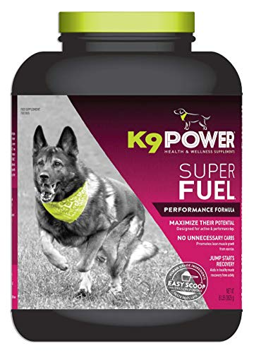 K9 Power Super Fuel - Energy & Muscle Nutritional Supplement for Active Dogs - 8 lb