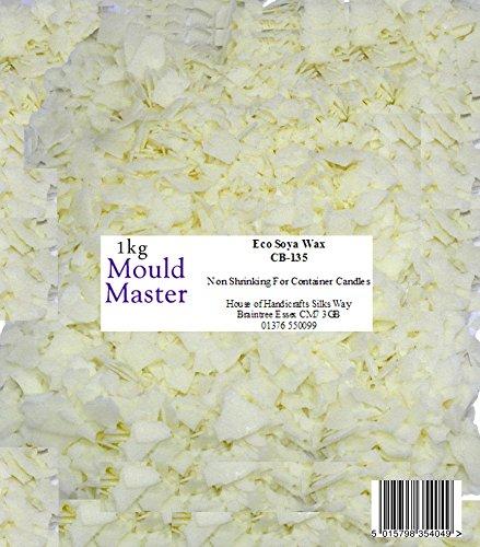 Moldmaster - Bolsa de Cera de Soja ecológica para Velas (1 kg),...