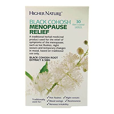 Higher Nature 6.5mg Black Cohosh Menopause Relief - Pack of 30 Tablets from Higher Nature Ltd