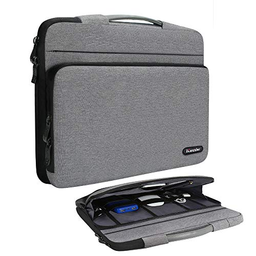 iCozzier 15-15.6 Zoll große Seitentasche Laptop Schutzhülle Aufbewahrungstasche für 15