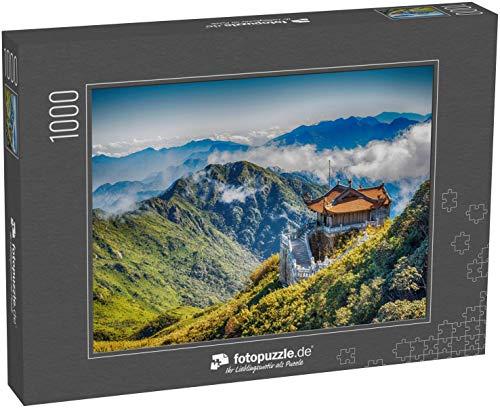 fotopuzzle.de Puzzle 1000 Teile Pavillon im traditionellen klassischen chinesischen Baustil im Berg Fansipan, Sapa, Vietnam