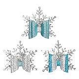 Amosfun Christmas Bow Hair Clip Snowflake Hair Barrettes Glitter Xmas Headdress Hair Accessories...