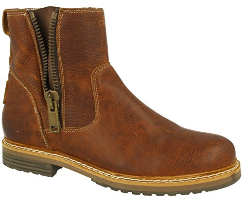 BULLBOXER Damen Ankle Boots 049M66532,Frauen Stiefel,Halbstiefel,Stiefelette,Bootie,knöchelhoch,Reißverschluss,Cognac,EU 36