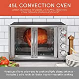 """Maxi-Matic Elite Gourmet ETO-4510M Double French Door Countertop Convection Toaster Oven, Bake Broil Toast Rotisserie Keep Warm 12""""-14"""