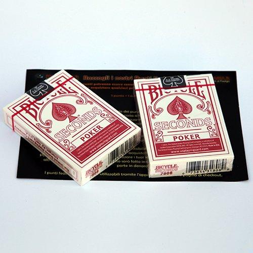SOLOMAGIA 2 (Due) Mazzi di Carte Bicycle Seconds - Mazzo Regolare Formato Poker - Dorso Rosso