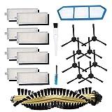 BSDY YQWRFEWYT Kit de Accesorios de Repuesto para Piezas del Aspirador Robot ILIFE A4, Cepillo Principal filtros Laterales Hepa