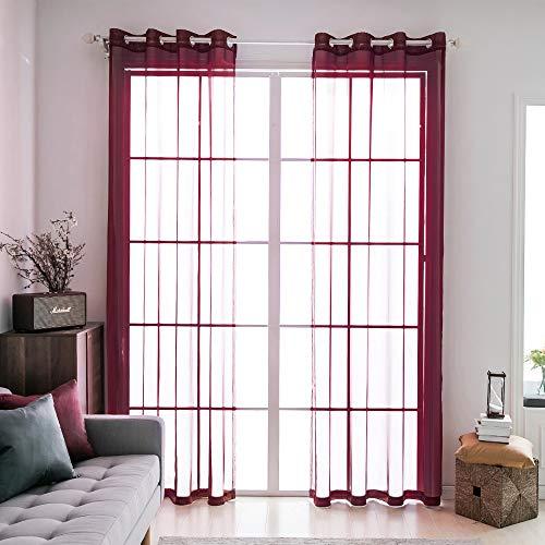 cortinas salon rojas e blanco