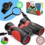 Real Binoculars for Kids high Resolution 8x21 with Adjustable Neck Strap - Includes