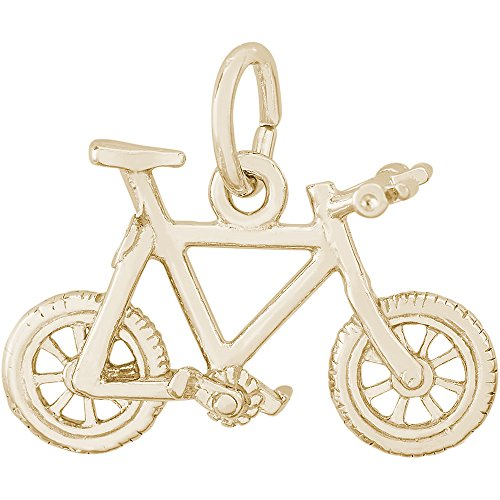 Rembrandt Charms Two-Tone Sterling Silver Mountain Bike Charm (13 x 18.5 mm)