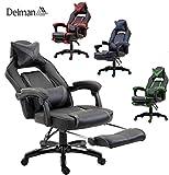 Delman XXL Size Gaming Stuhl Computerstuhl Chefsessel Kunstleder Bürostuhl Höhenverstellbarer