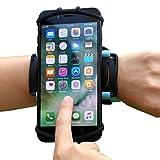 VUP+ スポーツ アームバンド リスト 装着 軽量 使いやすい 回転式 iPhone/Xperia など各種 スマホ (4〜5.5インチ) に対応 (ブラック) 正規代理店商品